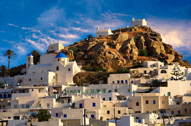Ios Greece  city photos gallery : The Hill city of Chora, Ios, Greece, Cyclades Island