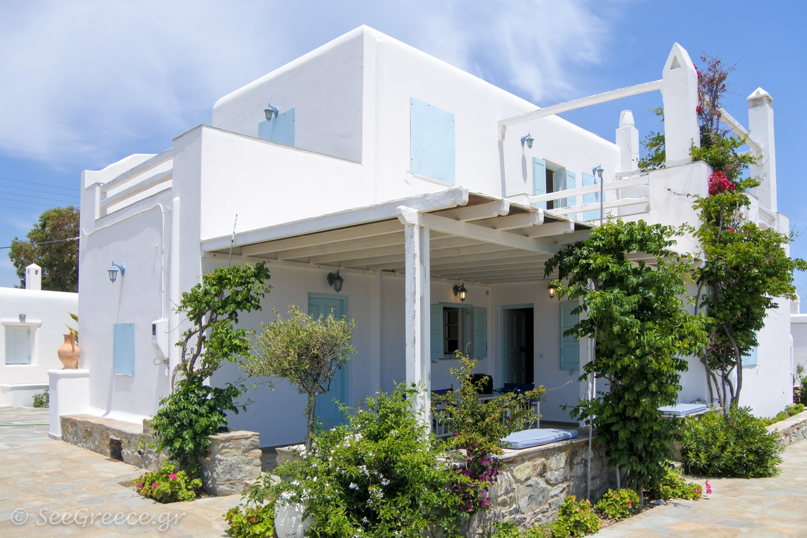 Mykonos Relaxing Vacation At A Villa With Private Garden And Parking