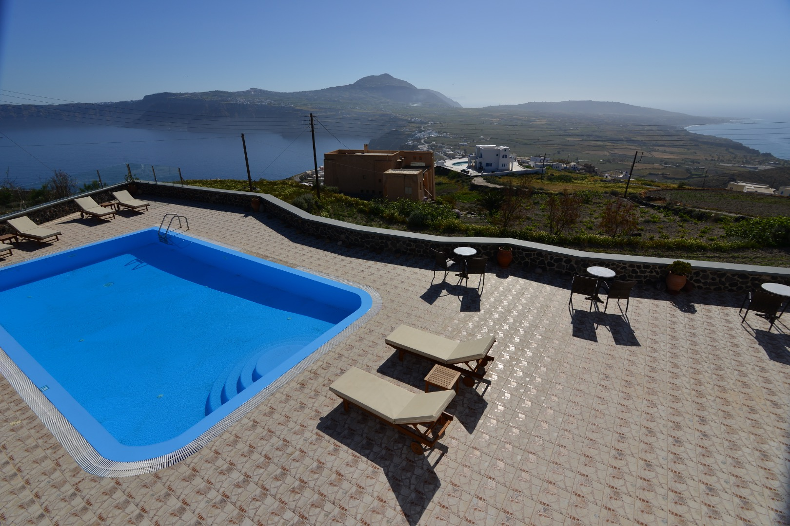 Santorini Akrotiri Panoramic Sea View With Shared Pool And Kitchen