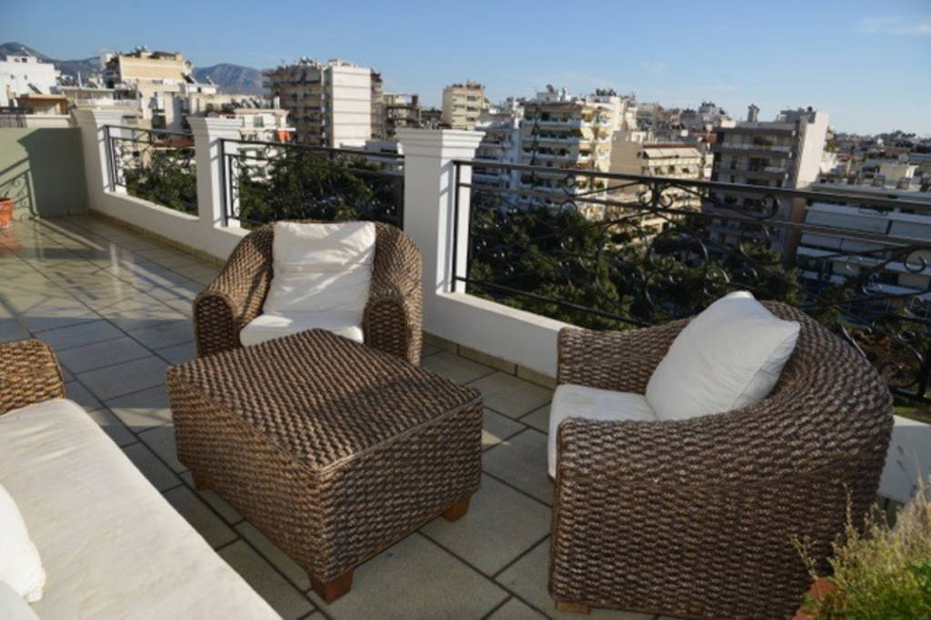 4 Bedrooms Top Floor Apartment With Sea View At Nea Smyrni Area